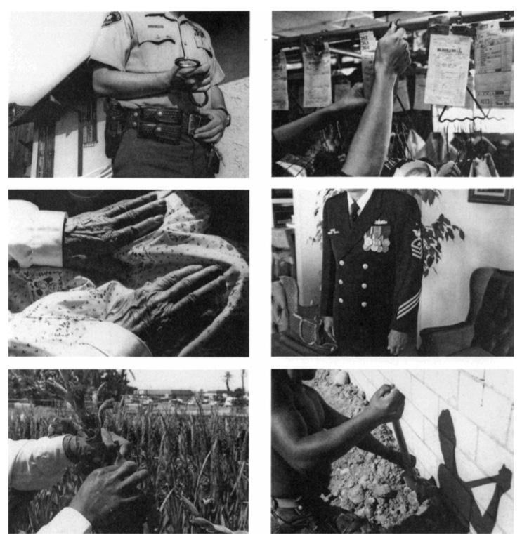 Marcos Ramírez, 187 pares de manos, 1996.