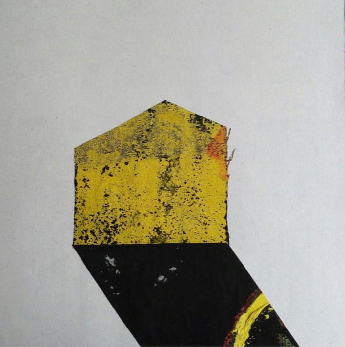 Construcción 02, tela sobre cartón, 2015.