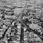 Vista aérea del Paseo de la Castellana, 1941 Manuel Urech. Archivo Fotográfico del Diario Madrid.