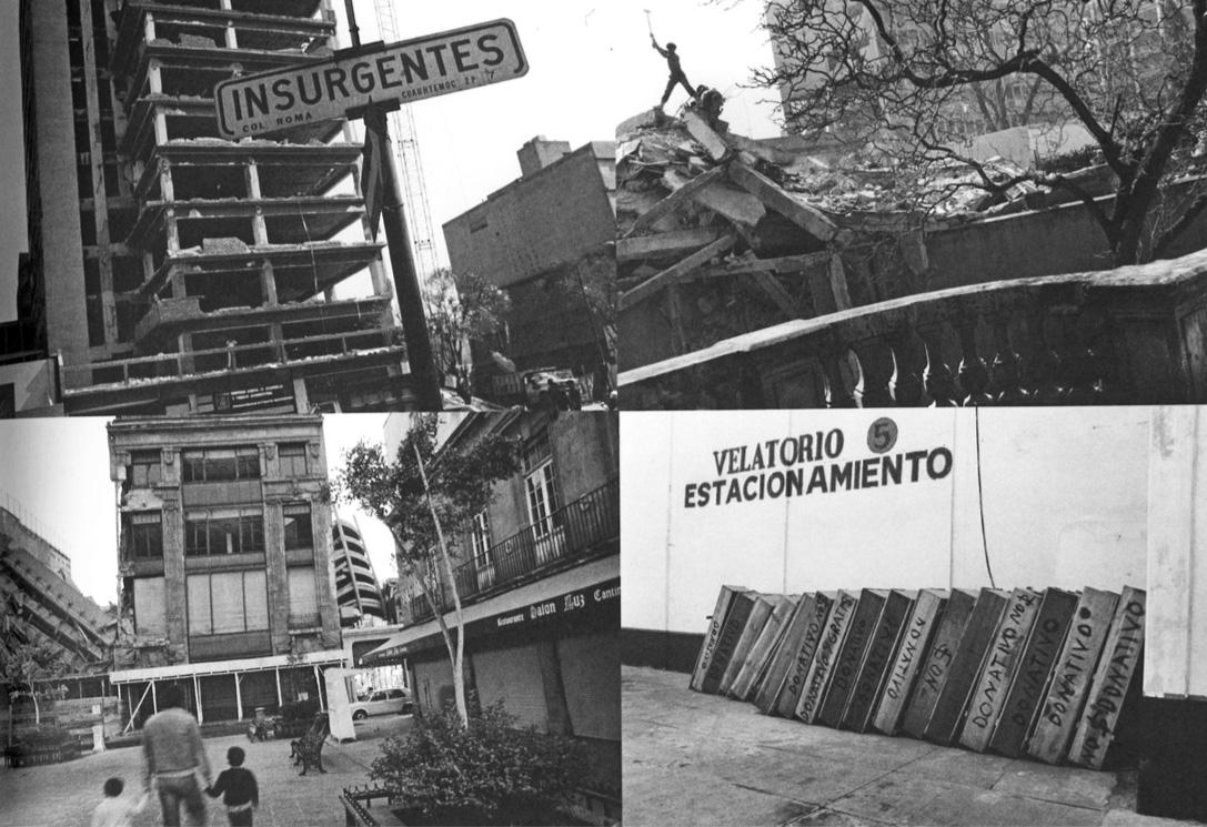 Después del terremoto, México, D.F., diciembre de 1985.