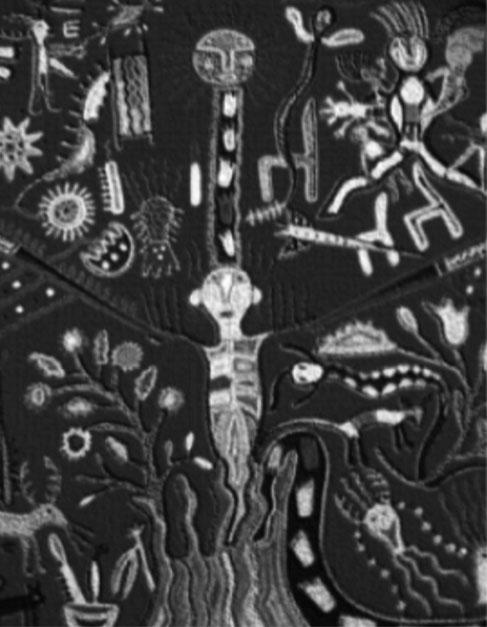 Chamán en transformación. Tejido huichol. Museo Nacional de Antropología e Historia de México.