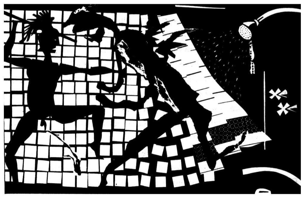 El Fisgón, Héroes en la regadera, Opción 57, 1993.