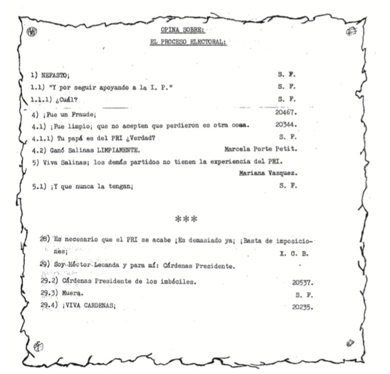 Selecciones de Foropción 10, 1988.