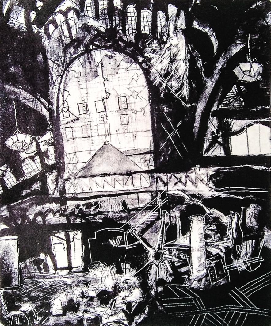 El Chopo, 2001. Litografía. 49 x 39 cm.