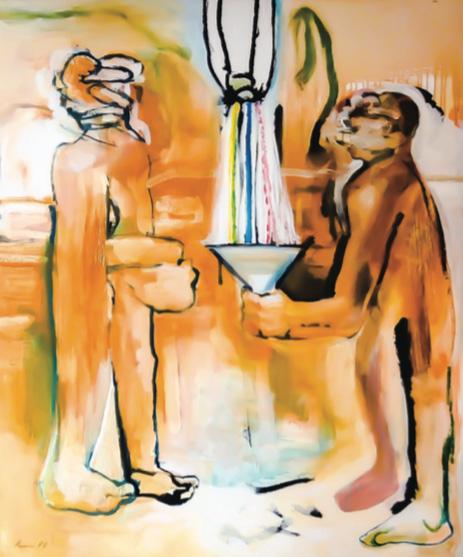 La chichi de Newton. 2008. Acrílico sobre lienzo. 140 x 120 cm.