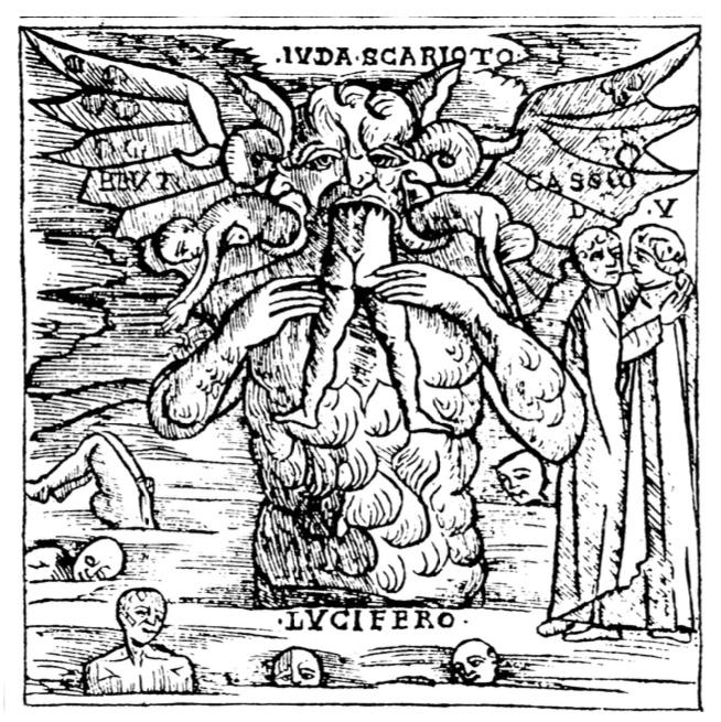 Bernardino Stagnino, Lucifer devorando a Judas, 1512.