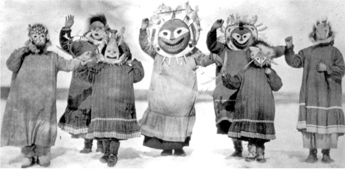 Dra.Marta Murillo, Bailarines Inuit con máscaras.