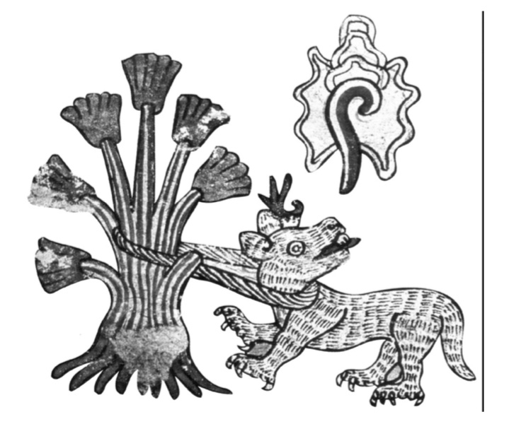 Detalles de plato 5-6, Códice Borbónico, Biblioteca Nacional de Francia.