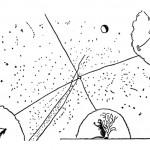 Dibujo Chukchi, La estrella polar, eje del mundo, Siberia.