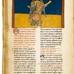 El séptimo ángel proclama el Reino del Señor, Manuscrito Beato sobre el Comentario al Apocalipsis de San Juan, s. XII.