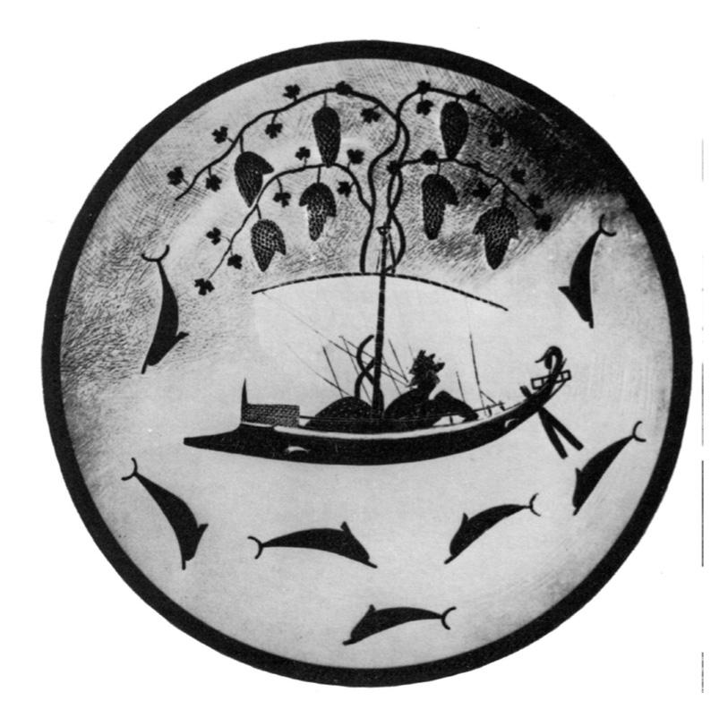 Dionisio, copa de Exekias. Grecia, VI a.c.