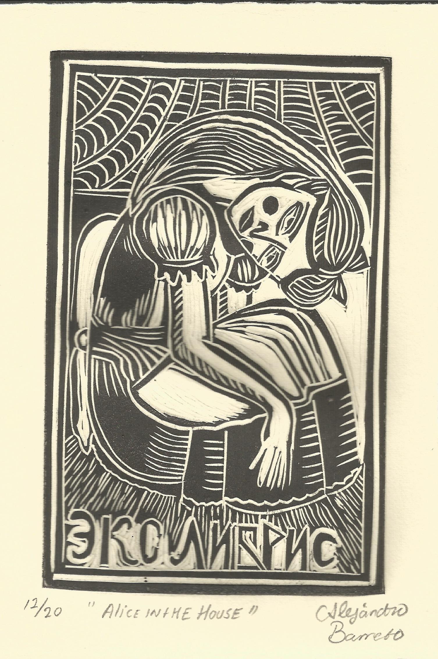 Barreto, Alicia, Linografía, 2016.