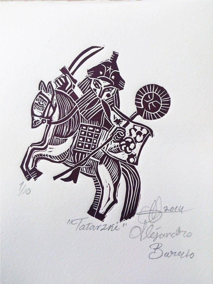 Barreto, Tatarzki, Linografía, 2013.