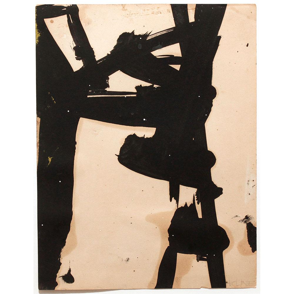 Franz Kline. Study for Sabro, 1957. Tinta/aceite sobre papel.