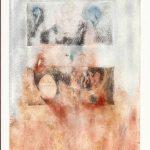 Salvador Solís Castro, Pan, aguafuerte, aguatinta y acuarela sobre papel, 27cm x 16cm.
