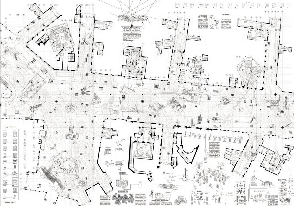 Lab_1: Altermodern Event [Gran Vía Street as a Building] a plan