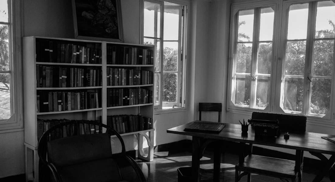 Despacho de Ernest Hemingway, en la torre de la Finca Vigía.